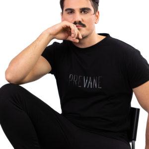 T-shirt Uomo Sfumata nera