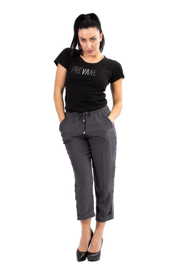 t-shirt nera sfumata Prevane