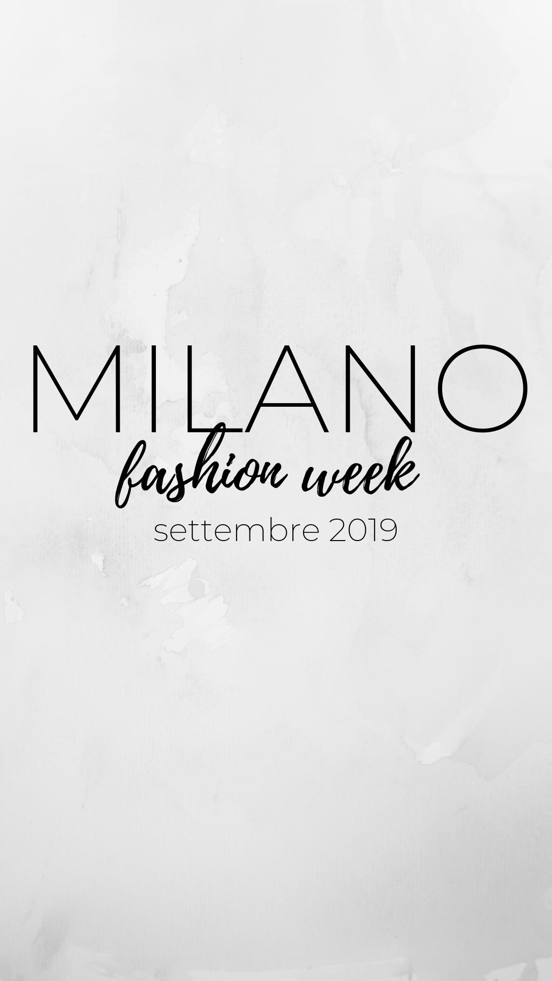 Settimana della moda milano nuove collezioni