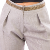Pantalone melangiato con passamaneria oro