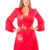 abito estivo rosso donna Prevane